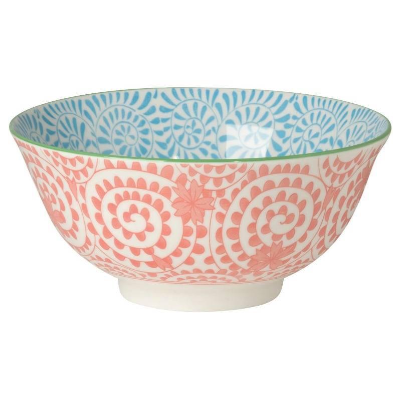 Orange Stamped Bowl