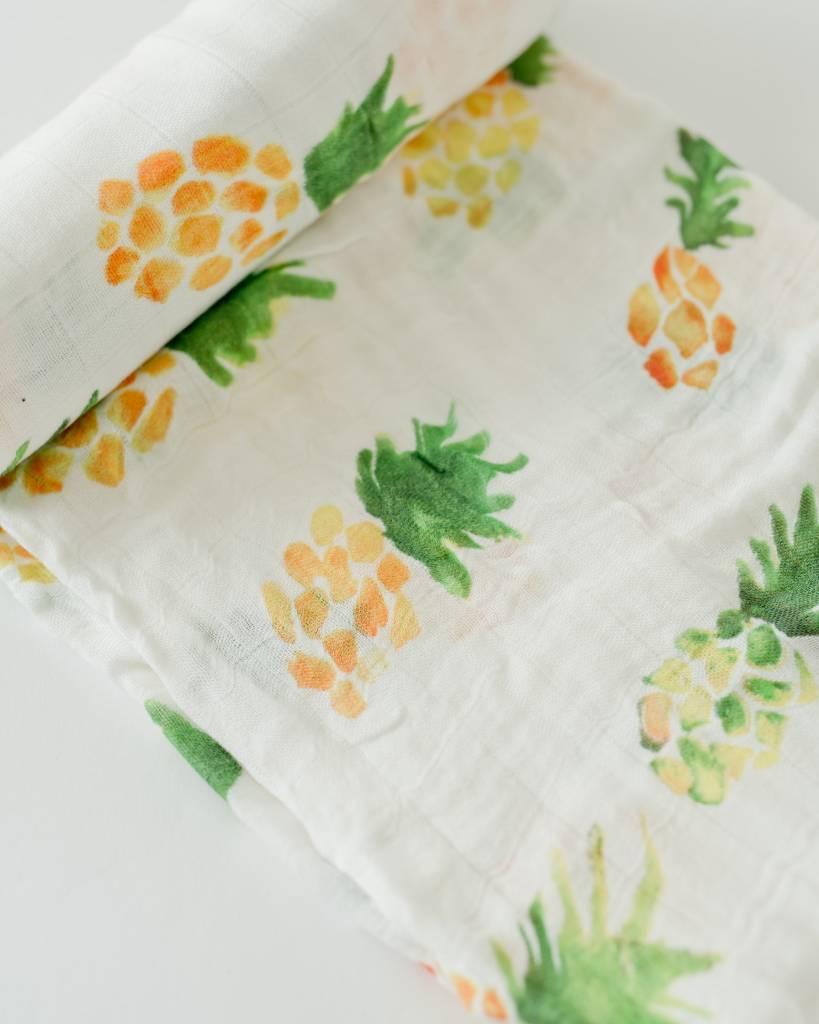 Little Unicorn Pineapple Deluxe Muslin Swaddle Single