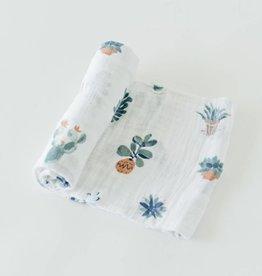 Little Unicorn Prickle Pots Cotton Muslin Swaddle Single
