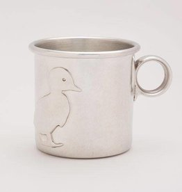 Beehive Handmade Pewter Baby Cup Duck
