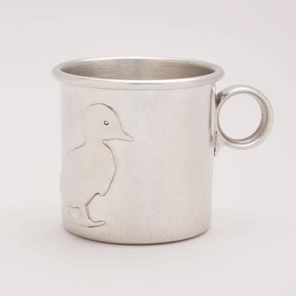 Beehive Handmade Pewter Baby Cup Duck