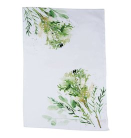 Floor 9 Watercolor Herb Tea Towel