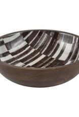 Floor 9 Harvest Pattern Mango Wood Bowl, Medium