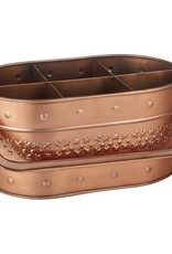 Floor 9 Embossed Copper Utensil Caddy