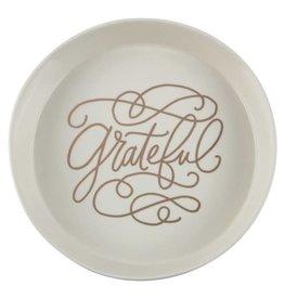 Floor 9 Grateful Crackle Glaze Serving DIsh