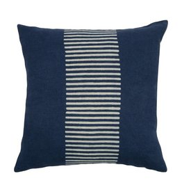 "Center Stripes 18"" Indigo Pillow"