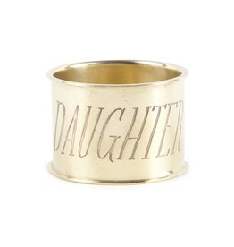 Sir Madam Daughter Napkin Ring
