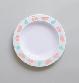 Buddy and Bear Pear & Melon Fruit Friends Plate