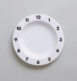 Buddy and Bear Dinner Time Plate Black
