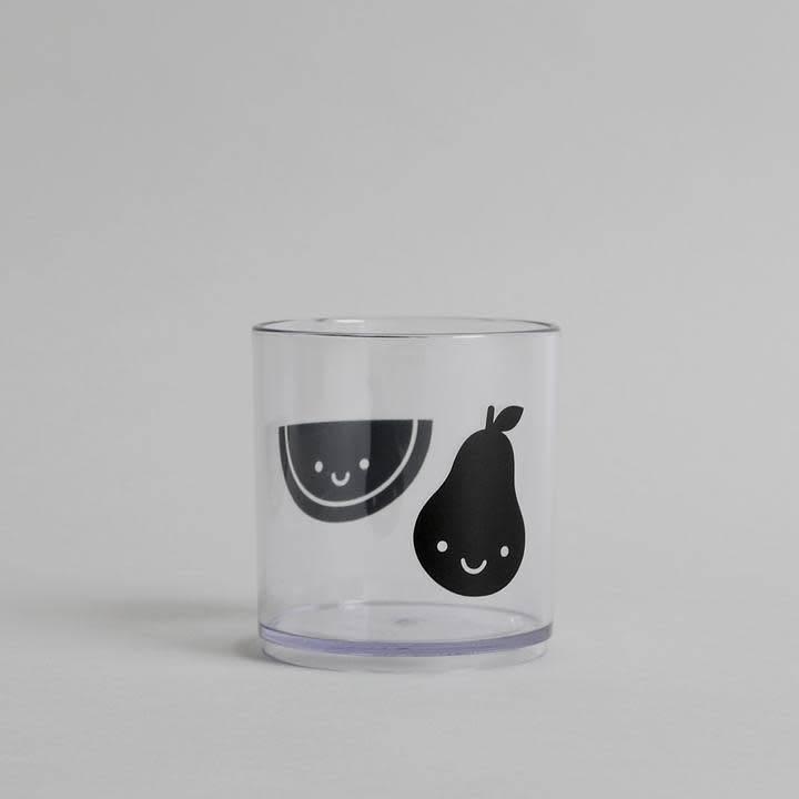 Buddy and Bear Pear/Melon Fruit Friends Tumbler- Black Edition