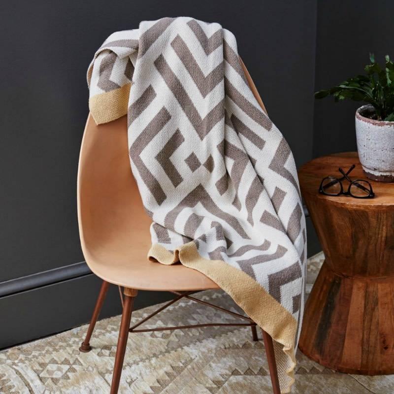 Savannah Hayes Zadar Throw Blanket Porcini