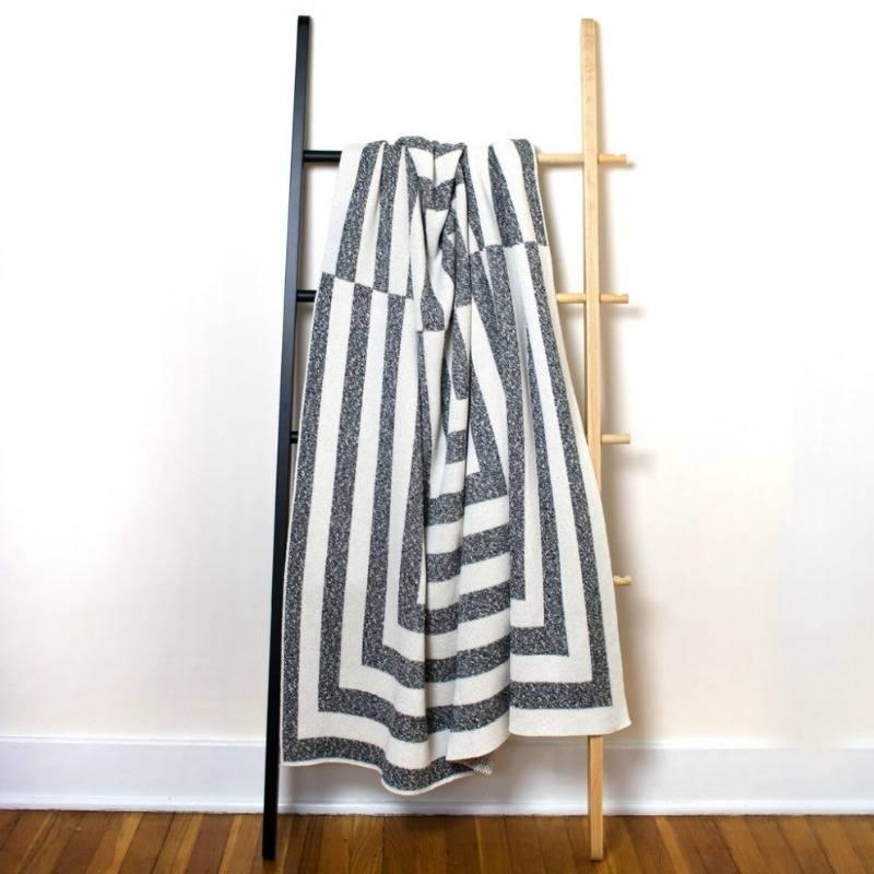 Savannah Hayes Aquino Throw Blanket Onyx