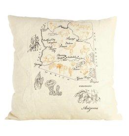 ox bow decor Arizona Pillow