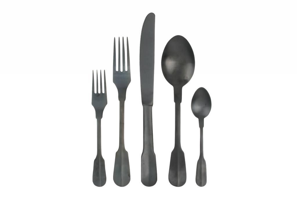 Canvas Madrid Cutlery 5pc black titanium
