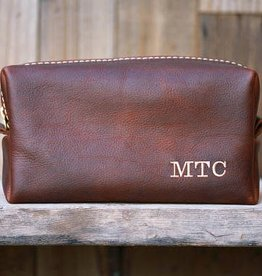 Lifetime Leather Co Leather Dopp Kit Cognac