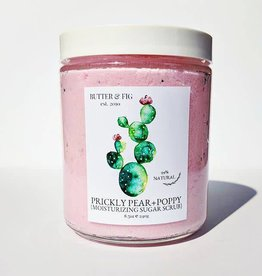 butter and fig Prickly Pear + Poppy Sugar Scrub