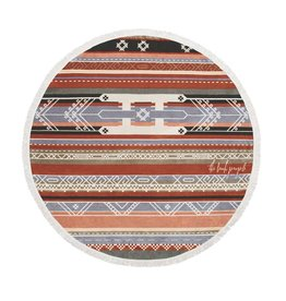 Beach People Bedouin Round Towel