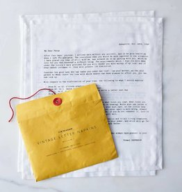 Sir Madam Vintage Love Letter Napkins
