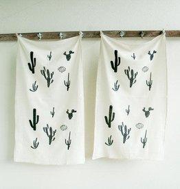 Appetite Dishtowel Set Cacti Print