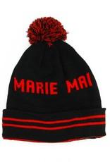 Marie-Mai Tuque à pompon noire et rouge Marie Mai