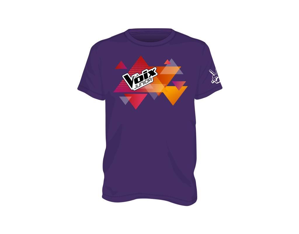 T-Shirt pour adulte (mauve) La Voix Junior
