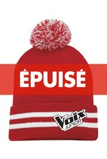 Tuque à pompon rouge La Voix Junior