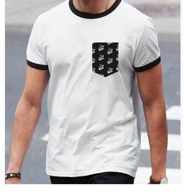 """La Voix #2 T-Shirt La Voix  Unisexe Léger """"Ringer"""" Blanc/Noir"""
