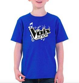 T-shirt enfant La Voix Junior bleu royale