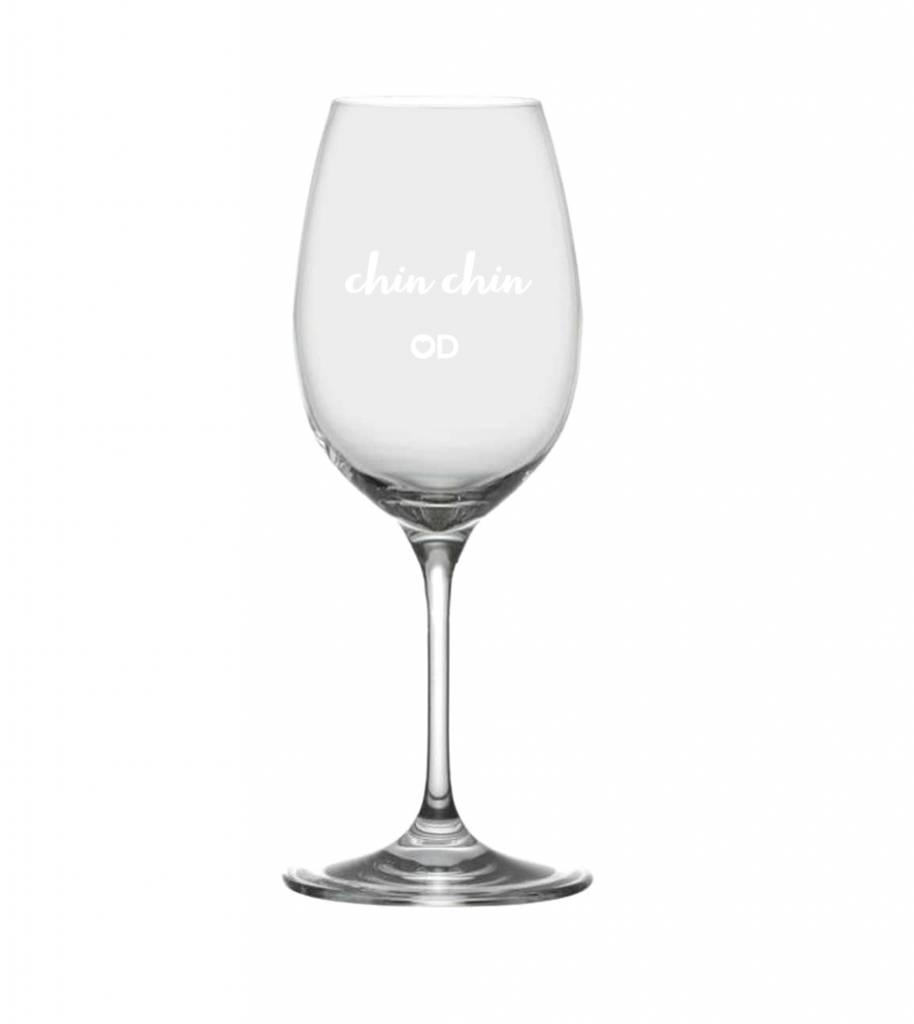 "Ensemble de 2 verres à Vin OD ""Chin Chin"""