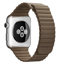 Apple Apple Watch Band 42mm Light Brown Leather Loop - Large 180-210mm (WSL)