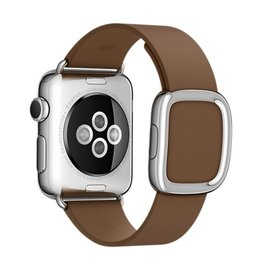 Apple Apple Watch Band 38mm Brown Modern Buckle - Medium 145mm-165mm (ATO)
