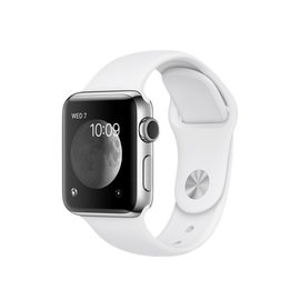 Apple Apple Watch Series 2, 38mm Stainless Steel Case with White Sport Band 130-200mm (ATO)