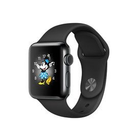 Apple Apple Watch Series 2, 38mm Space Black Stainless Steel Case with Black Sport Band 130-200mm (ATO)