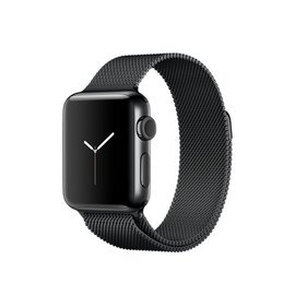 Apple Apple Watch Series 2, 38mm Space Black Stainless Steel Case with Space Black Milanese Loop 130-180mm (ATO)