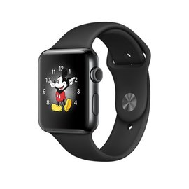 Apple Apple Watch Series 2, 42mm Space Black Stainless Steel Case with Black Sport Band 140-210mm (ATO)