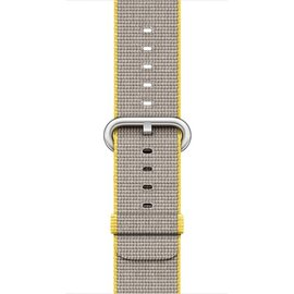 Apple Apple Watch Band 42mm Yellow/Light Gray Woven Nylon 145-215mm (ATO)