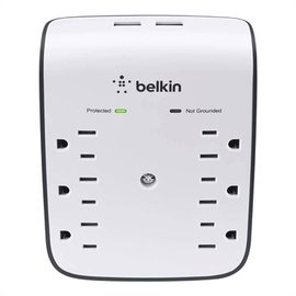 Belkin Belkin 6-Outlet Surge Protector with 2 USB Ports 2.1A - White