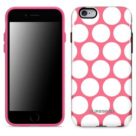 Pure Gear Pure Gear Motif Series Case for iPhone 6s/6 Pink w/ White Circles ALL SALES FINAL - NO RETURNS OR EXCHANGES