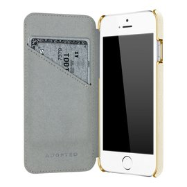 Adopted Adopted Leather Folio Case for iPhone 6 White/Gold ALL SALES FINAL - NO RETURNS OR EXCHANGES