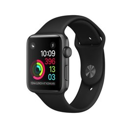 Apple Apple Watch Series 2, 42mm Space Gray Aluminum Case with Black Sport Band 140-210mm ALL SALES FINAL - NO RETURNS OR EXCHANGES