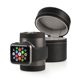 iWires iWires Recharge Apple Watch Power and Travel Case 1000mAh Black/Dark Grey (watch charge cable not included)