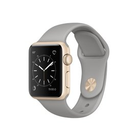Apple Apple Watch Series 1, 38mm Gold Aluminum Case with Concrete Sport Band 130-200mm ALL SALES FINAL - NO RETURNS OR EXCHANGES