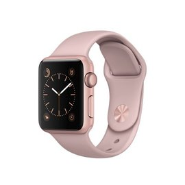 Apple Apple Watch Series 1, 38mm Rose Gold Aluminum Case with Pink Sand Sport Band 130-200mm ALL SALES FINAL - NO RETURNS OR EXCHANGES