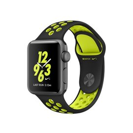 Apple Apple Watch Nike+, 38mm Space Gray Aluminum Case with Black/Volt Nike Sport Band