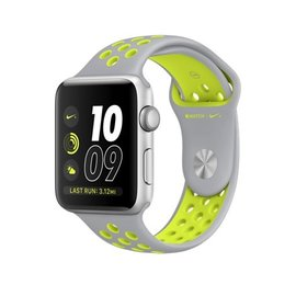 Apple Apple Watch Nike+, 42mm Silver Aluminum Case with Flat Silver/Volt Nike Sport Band 140-210mm ALL SALES FINAL - NO RETURNS OR EXCHANGES