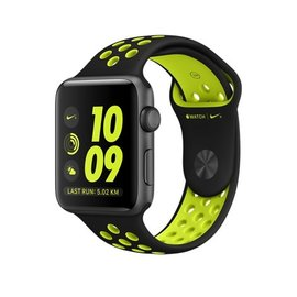Apple Apple Watch Nike+, 42mm Space Gray Aluminum Case with Flat Black/Volt Nike Sport Band 140-210mm ALL SALES FINAL - NO RETURNS OR EXCHANGES