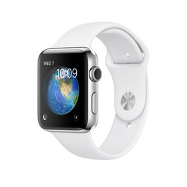 Apple Apple Watch Series 2, 42mm Stainless Steel Case with White Sport Band 140-210mm (ATO)