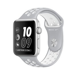 Apple Apple Watch Nike+, 38mm Silver Aluminum Case with Flat Silver/White Nike Sport Band 130-200mM ALL SALES FINAL - NO RETURNS OR EXCHANGES