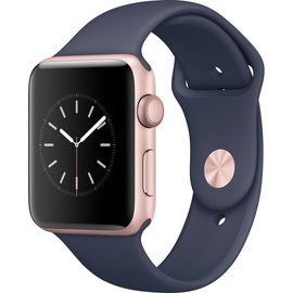 Apple Apple Watch Series 2, 42mm Rose Gold Aluminum Case with Midnight Blue Sport Band 140-210mm ALL SALES FINAL - NO RETURNS OR EXCHANGES