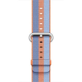 Apple Apple Watch Band 42mm Orange Stripe Woven Nylon 145-215mm (ATO)